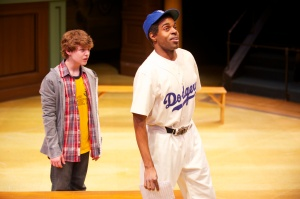 Seth Horne and Chauncy Thomas in First Stage's JACKIE AND ME, 2013. Photo by Mark Frohna.